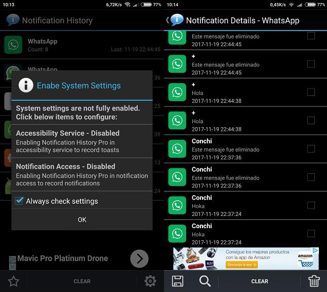 Como Evitar que anulen los mensajes recibidos de Whatsapp