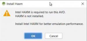 error haxm
