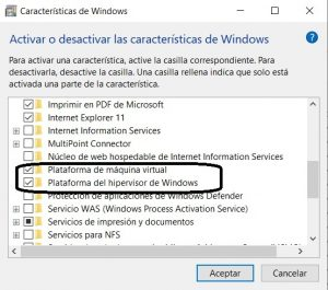 hipervisor de windows