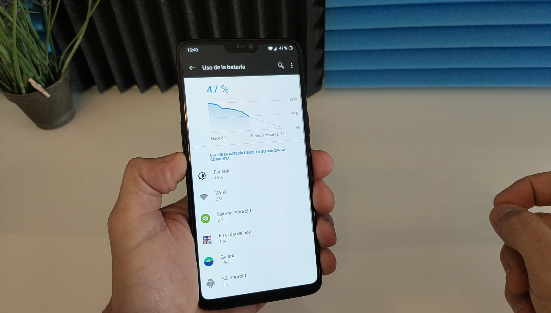 gasto bateria android